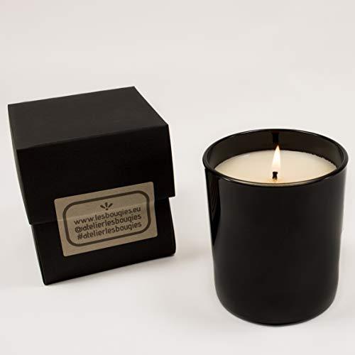 Candela profumata decorativa artigianale | interamente fatta a mano | candele soia naturale 100% bio | fragranze profumate prive di petrolio e paraffine | durata 50h - 220g (chocolat black)