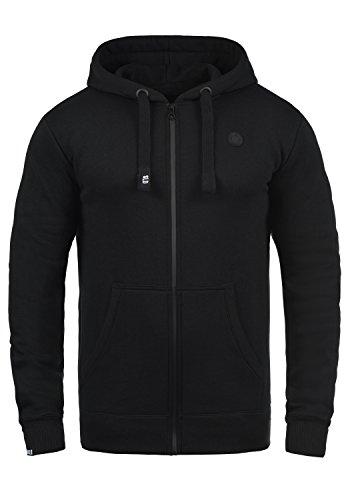 SOLID Bene Herren Sweatjacke Kapuzen-Jacke Zip-Hood aus einer hochwertigen Baumwollmischung, Größe:XL, Farbe:Black (9000) (Kapuzen-jacke)