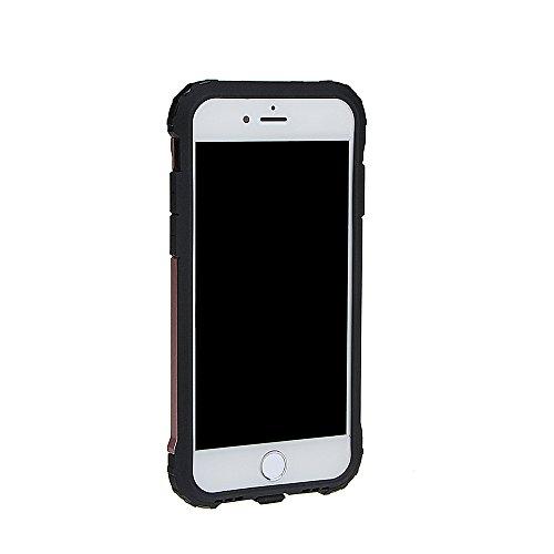 """xhorizon Double Couche Plastique Dur PC TPU DOUX Mélangé Antichoc Couverture de Protection Lourde pour iPhone 7[4.7""""] #4 +9H Glass Tempered Film"""