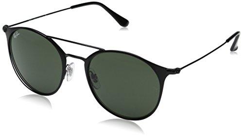 Ray-Ban Unisex-Erwachsene Sonnenbrille Rb 3546 Top Matte Black/Green, 52