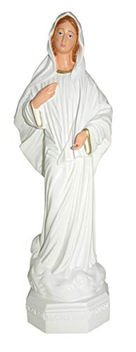Estatua de Exterior Virgen de Medjugorje de Material irrompible Pintada a Mano - 30 cm