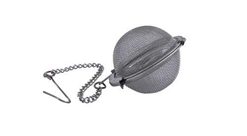 Metaltex 253811 - Filtro de té, Acero Inoxidable con Cadena, 4.5 centímetros