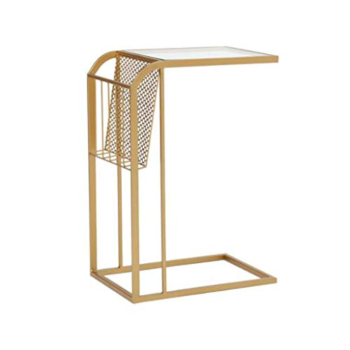 Dsrgwe Beistelltisch, Modernes minimalistisches Schlafzimmer-Nachttisch-Mini-europäisches Schmiedeeisen-Sofa-Nachttisch-Kleiner Couchtisch (Color : Gold) - Buche Kirschbaum-schrank