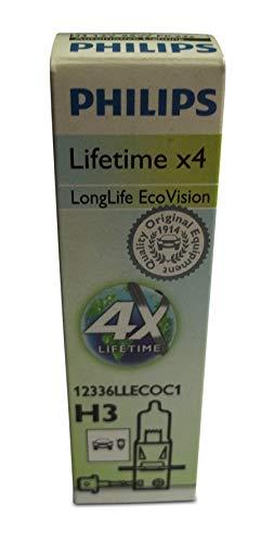 Preisvergleich Produktbild Philips 12336LLECOC1 Glühlampen H3 LongLife EcoVision, 1er Karton