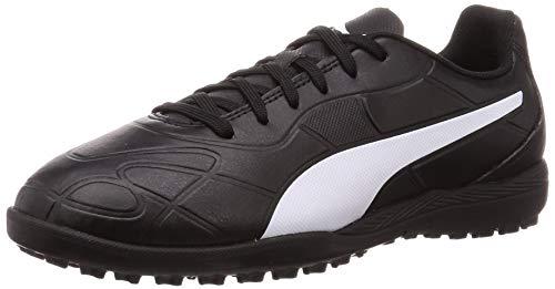 Puma Unisex-Kinder Monarch TT Jr Fußballschuhe, Black White, 36 EU