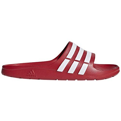 Adidas duramo slide, ciabatte unisex-adulto, rosso blanco/rojo co 000, 43 1/3 eu