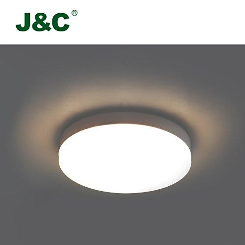 Preisvergleich Produktbild J&C Deckenleucht 12W LED Beleuchtung SMD2835 Rund 800LM Deckenlampe natureweiss IP40 für Badezimmer Wohnzimmer weiß