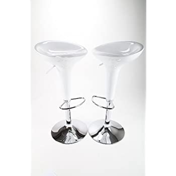 Point-home 2 tabourets de bar avec 2 tabourets chaises de bar toile