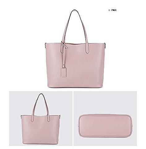 NAWO Designer Handtaschen Leder Schultertasche Shopper Umhängetasche Tote Bag Taschen für Damen
