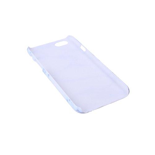 """ZXLZKQ pour iPhone 6 6S 4.7"""" Etui Blanc Naturel Marbre Motif Hard Plastique Dur PC Bumper Case Housse Coque pour Apple iPhone 6 6S 4.7"""" (Non compatible iPhone 6 Plus) HD8"""