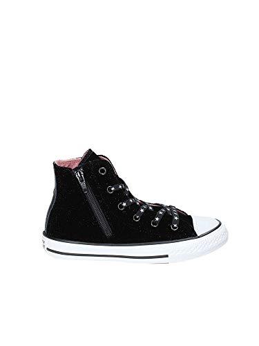 Converse Unisex-Kinder Chuck Taylor CTAS Side Zip Hi Sneakers Mehrfarbig (Black/White/Rust Pink 001) 32 EU