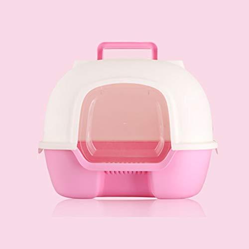 Leon's shop Katzentoilette,Komplett geschlossenes WC Extra großes Deo, pink