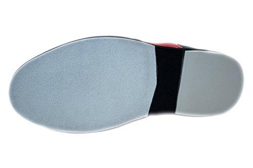 Bowlio Pro Series Strike Red - Chaussures de bowling en cuir noir et rouge Rouge/Noir