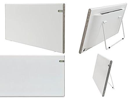 Bendex LUX Elektroheizkörper Wandkonvektor weiß 1200 W schick und schlank IP24 Spritzwassergeschützt Energiesparend wandmontiert oder als freistehende Teife LED-Anzeige integrierte Tag- und Nacht-Temperatur-Kontrolle