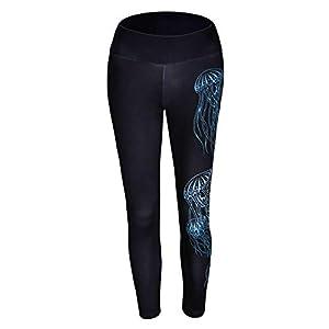 Bornbayb Damen Frauen gedruckt hoch taillierte Yoga Leggings Bauch Kontrolle Workout Laufhose