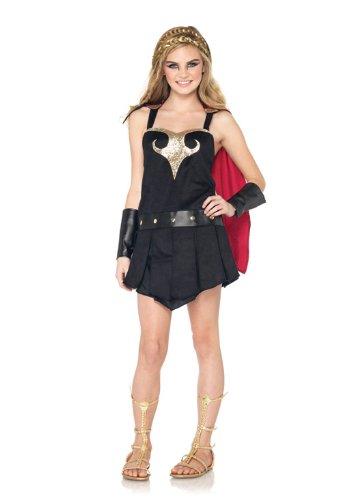 Leg Avenue J48063 - Junior Krieger Prinzessin Kostüm Set, Größe M/L, (Halloween Kostüme Junior Prinzessin)