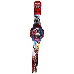 Marvel - Reloj infantil de cuarzo con diseño de Los Vengadores y Capitán América.
