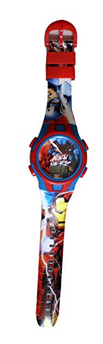 Kinder Quarz-Armbanduhr Avengers Captain America und Ironman, Marvel Comics (Ironman-uhr Für Kinder)