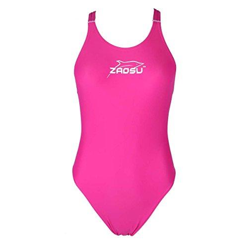 ZAOSU Schwimmanzug Badeanzug Z-Pink für Damen und Mädchen, Größe:140