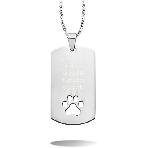 MeMeDIY Silber Ton Edelstahl Anhänger Halskette Dog Tag Kruzifix Kreuz Bär Paw Einstellbar Verstellbaren Kette ,mit Kette - Kundenspezifische Gravur