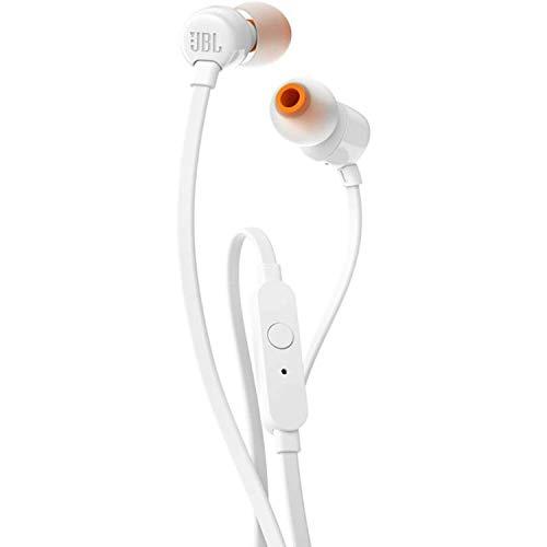 JBL T110In-Ear-Kopfhörer mit Steuerung und Mikrofon weiß