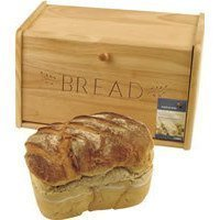 Image of Traditional wooden bread bin 39cm(w) 21cm (H) 20cm(D) - Drop down front.