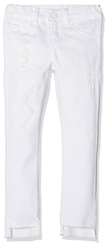 NAME IT Mädchen Jeans NKFPOLLY DNMTHYRA 8001 Pant NOOS, Weiß (White Denim), 104