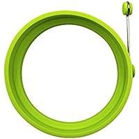 Anillo de silicona Macabolo, no es pegajoso, forma redonda de huevo, molde para sándwiches 10 cm verde