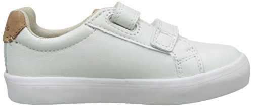 Clarks Jungen Brill Rap Inf Low-Top Weiß (White Leather)