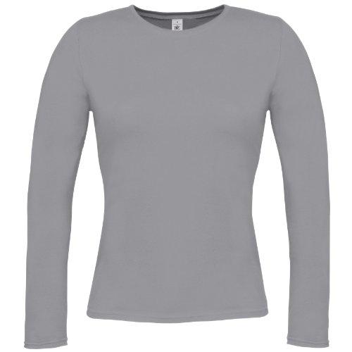 B&C Damen Longsleeve / Langarm-Shirt Grau