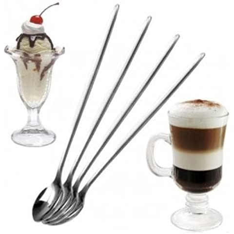 Bheem acero inoxidable largo Spoon Café Latte Helado Cóctel Scoop