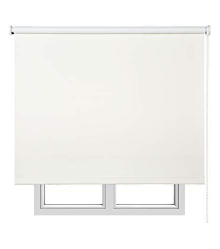 Estores Basic Opaco Estor Enrollable, Tela, Hueso, 150 x 250 cm