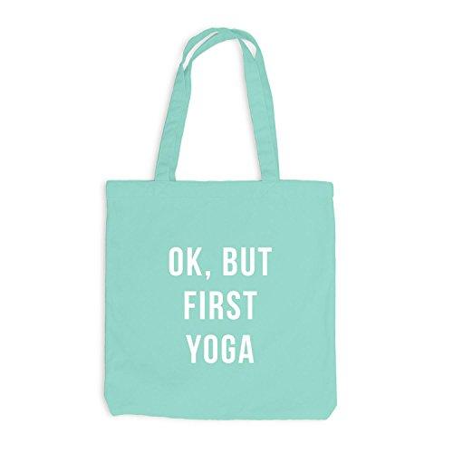 Jutebeutel - Ok, But First Yoga - Wakeup Style Mint