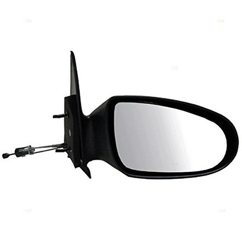 1995-1999 Dodge Neon, Plymouth Neon Manual Remote Cable Operated Black Fixed Non-Folding Rear View Mirror Right Passenger Side (1995 95 1996 96 1997 97 1998 98 1999 99) by Aftermarket Auto Parts
