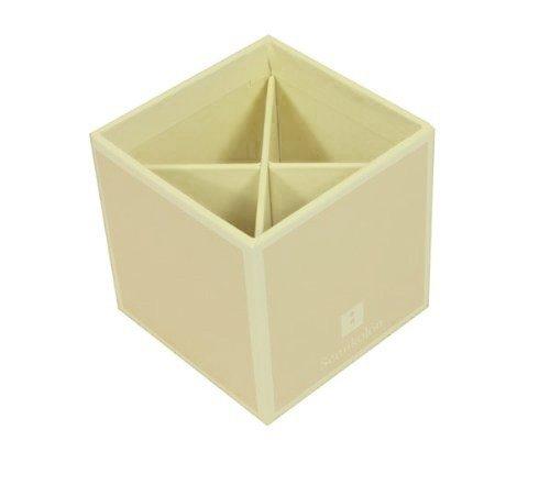Cubo portapenne bianco ghiaccio +++ sistema di gestione per l'ufficio e la casa +++ qualità originale semikolon