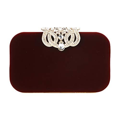 Faux Suede Tote Bag (BfmyxgsSatin + Wildleder Exquisite Dinner Hochzeit Crown Dekoration Handtasche Tote)