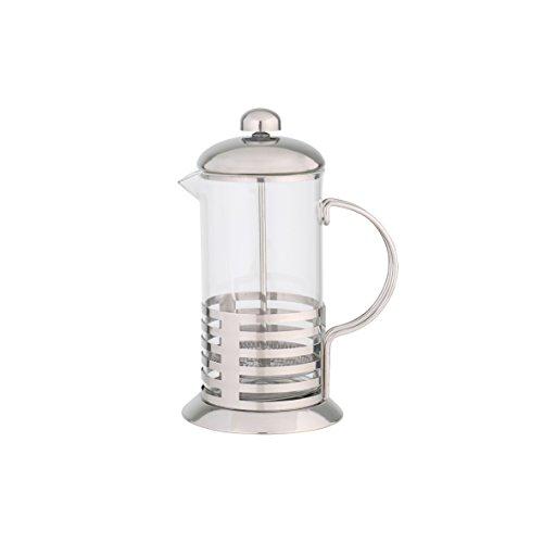 axentia Kaffeebereiter Tebino, Teebereiter 350 ml Volumen, French-Press aus Glas, kleine Kaffeemaschine, Pressstempelkanne, Teezubereiter aus Edelstahl, Kaffeepresse mit temperaturbeständigem Borosilikatglas