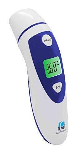 paryvara Digitales Stirn- und Ohr-Thermometer. Medizinisches Thermometer, geeignet für Babys, Säuglinge, Kleinkinder und Erwachsene Mit Sofortanzeige FDA- zugelassen, CE-zertifiziert