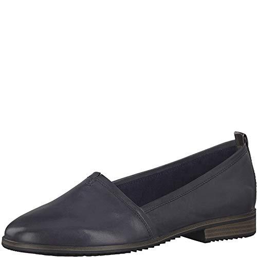 Tamaris 1-1-24205-22 Damen Slipper,Schlüpfschuh,Slip-on,modisch,Freizeitschuh,Touch-IT,Navy Leather,40 EU - Patent Leder Slip