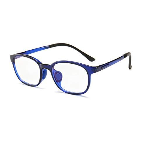 Jungen Mädchen Anti Rutsch Brillen Blaulichtfilter Anti UV TR90 Brillengestell(Brillen ohne Grad) anti blau brille