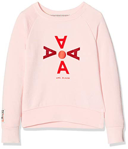 Scotch & Soda Mädchen Long Sleeve Sweat with Various Artworks Sweatshirt, Rosa (Muse Pink 3288), 140 (Herstellergröße: 10)