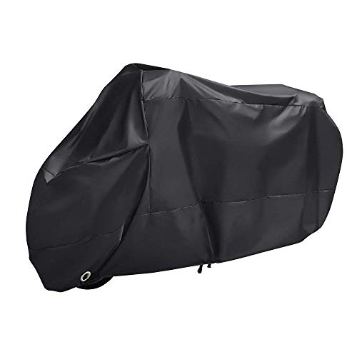 WZTO Motorcycle Case Cover 210D Protective Cover Waterproof Motorcycle Cover Anti UV Cover Motorcycle Cover Protective Case Against Rain and Dust Motorcycle, XXXL - (265 * 105 * 125 cm)