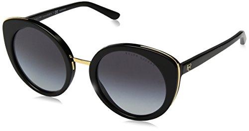 Ralph lauren 0rl8165018g, occhiali da sole donna, nero (black/gradient), 52