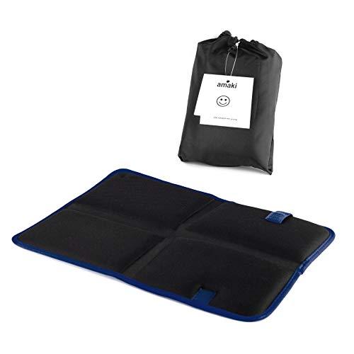 Outdoor Sitzkissen   Thermo Sitzkissen mit praktischer Tasche   Alu Isomatte, Faltbar, Leicht, klein, Isoliert, gepolsterte Sitzunterlage für unterwegs, Camping und Wandern, oder als Stadion Kissen