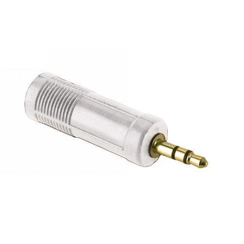 Hama Kompaktadapter 2,5 mm Klinkenstecker - 3,5 mm Klinkenkupplung weiß (2,5 Gb 20)