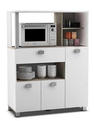 Abitti Mueble Auxiliar de Cocina en Color Blanco con un Cajon y...