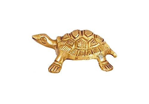 Indian Art Villa Brass Hammered Vastu Fengshui Tortoise Statue, Home Decor Good Luck, Gift Item