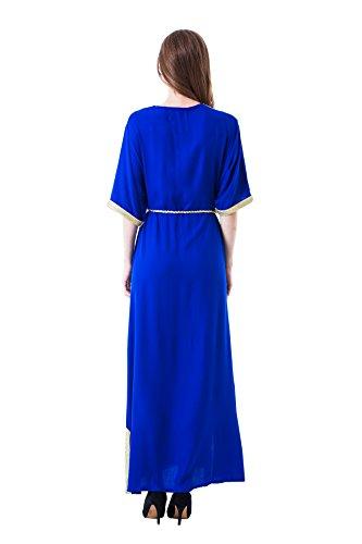 Muslim Abaya Dubai Kleid für Frauen islamischen Kleid Islamische Kleidung muslimische Kaftan / Caftan Rayon Gewand Jalabiya 1606 Blau