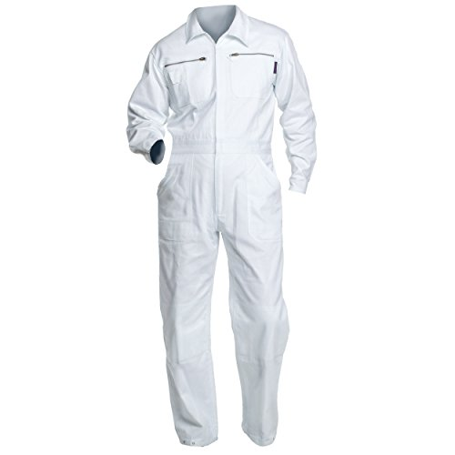 Charlie Barato Maleroverall - waschfester Overall, robuster Arbeitsanzug weiß (52)