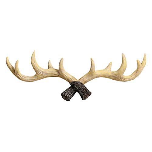 Antlers attaccapanni a parete vintage rustico in ghisa da parete appendiabiti porta abiti per appendiabiti, portachiavi, cappello appendiabiti